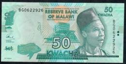 MALAWI P64d  50 KWACHA 2017  UNC. - Malawi