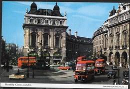 INGHILTERRA - LONDRA - PICCADILLY CIRCUS  - FORMATO PICCOLO - VIAGGIATA 1970  FRANCOBOLLO ASPORTATO - Piccadilly Circus