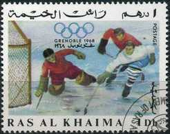 RAS AL-KHAIMA 1967 - Mi. 209 O, Ice Hockey | Winter Olympics, Grenoble. - Ra's Al-Chaima