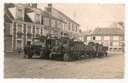 1936 FLOTTE DE CAMIONS  TRANSPORT DE VINS EN GROS  / ANGERVILLE /  HOTEL DE FRANCE /  AGENCE RENAULT  CAMION B166 - Angerville