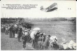 91 - JUVISY - PORT AVIATION N° 5  - Gde Quinzaine De Paris Du 3 Au 17 Octobre 1909, Aéroplane De M. Le Comte De LAMBERT - Demonstraties