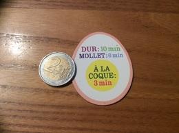 """Magnet Recette """"DUR MOLLET À LA COQUE"""" (œuf) - Magnets"""