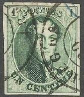 Prachtige Gerande Zegel N° 9 - 1858-1862 Medallions (9/12)