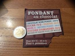Magnet Recette «FONDANT Au Chocolat» - Magnets