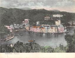 "0519 ""(GENOVA) PORTOFINO - PANORAMA""  BARCHE. CARTOLINA DOPPIA. CART  SPED 1909 - Genova (Genoa)"