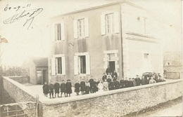 Beauvilliers Carte Photo L'école    Yonne - France