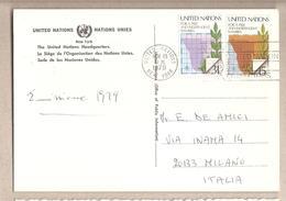 Nazioni Unite New York - Cartolina Viaggiata Per L'Italia Con Serie Completa: Per Una Namibia Libera - 1979*G - New York -  VN Hauptquartier