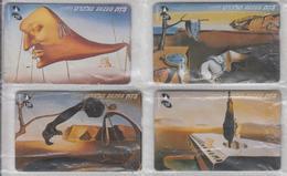 ISRAEL 1999 ART SALVADOR DALI 120 UNITS 4 USED PHONE CARDS - Israel