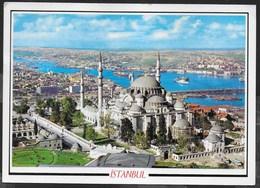 TURCHIA - ISTANBUL - VEDUTA AEREA - FORMATO GRANDE 17X12 - VIAGGIATA 1961 FRANCOBOLLO ASPORTATO - Turchia