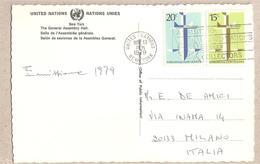 Nazioni Unite New York - Cartolina Viaggiata Per L'Italia Con Serie Completa: Corte Di Giustizia Dell'Aia - 1979*G - New York -  VN Hauptquartier