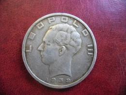 BELGIQUE - 50 FRANCS ARGENT 1939 LEOPOLD III @ KM# 121 - 1934-1945: Leopold III