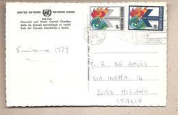 Nazioni Unite New York - Cartolina Viaggiata Per L'Italia Con Serie Completa: Ufficio Calamità - 1979*G - New York -  VN Hauptquartier