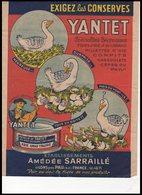 FEUILLE    EXIGEZ  LES  CONSERVES   YANTET - Vieux Papiers