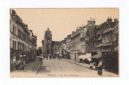 Deux CPA Elbeuf: Rue Saint Jean, Place Du Calvaire - Elbeuf