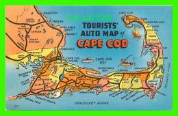CARTES GÉOGRAPHIQUES - TOURISTS AUTO MAP OF CAPE COD - - Cartes Géographiques