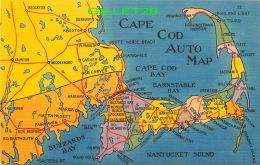 CARTES GÉOGRAPHIQUES -  CAPE COD AUTO MAP - DRIVING DISTANCE - TICHNOR BROS INC - - Cartes Géographiques