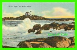 PHARES, LIGHTHOUSE - NUBBLE LIGHT , YORK BEACH, ME -  TICHNOR BROS INC - - Phares