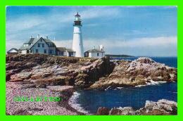 PHARES, LIGHTHOUSE - PORTLAND HEAD LIGHT, CASCO BAY, PORTLAND, ME - TRAVEL IN 1956 - - Phares
