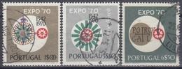 PORTUGAL 1970 Nº 1086/88 USADO - 1910-... République