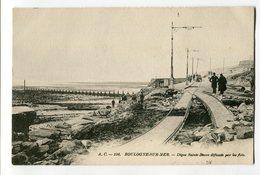 Ref 200 - BOULOGNE-sur-MER - Digi=ue Sainte-Beuve Défoncée Par Les Flots (CARTE PIONNIERE) - Boulogne Sur Mer
