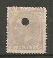 1879 - Yv. N° 191  ANNULE    (*)  4p  Gris  Cote  5 Euro   BE   2 Scans - 1875-1882 Kingdom: Alphonse XII