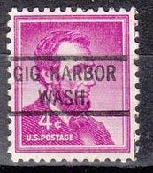USA Precancel Vorausentwertung Preo, Locals Washington, Gig Harbor 821 - Vereinigte Staaten