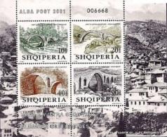 Albania Stamps 2001. Albanian Old Bridges 2830-2833. Set Sheet MNH. - Albania