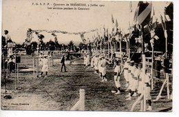 Bressuire : FGSPF - Concours De Bressuire 9 Juillet 1911 - Les Sections Pendant Le Concours - Bressuire