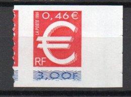- FRANCE Variété N° 3198c - 3 F. Le Timbre Euro 1999 - PRÉDÉCOUPAGE A CHEVAL - Cote 80 EUR - - Variétés Et Curiosités