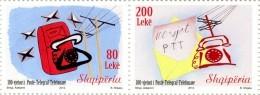 Albania Stamps 2012. The 100 Th Anniversary Of Post-Telegraph-Telephones  - Set MNH - Albania