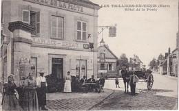 LES THILLIERS-en-VEXIN - Hôtel De La Poste -7 LAPLACE - BREAU - Clients En Terrasse - RARE - Frankreich