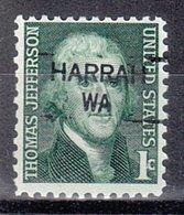 USA Precancel Vorausentwertung Preo, Locals Washington, Harrah 835,5 - Vereinigte Staaten