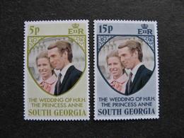 GEORGIE DU SUD: TB Paire N° 45 Et N° 46, Neufs XX. - Géorgie Du Sud