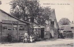 PUCHAY - Un Coin De La Place - Café - RARE - Frankreich