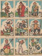 Chromo 9 Chromos LA PHOSPHATINE FALIERES Asnières Paris Les Costumes D'enfants (2 Scans) - Sonstige