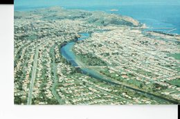 NEW ZEALAND  -POSTCARD-GISBORNE  AERIAL VIEW ABOVE RESIDENTIAL SUBURB OF MANGAPAPA RIVER TASRUHERU SHINING NEW  RELOGAN - New Zealand