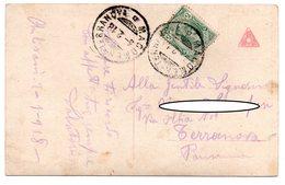 13 APR.18 Annullo Ambulante MACOMER - TERRANOVA Su Cartolina Illustrata Stile Liberty - 1900-44 Vittorio Emanuele III