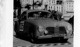 Rallye Monte-Carlo 1953  -  Simca 8 Sport -  Pilotes: Maurice Trintignant/Maurice Lesurque    -  15x10 PHOTO - Rallyes