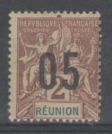 REUNION:  N°72(A) * (chiffres Espacés)      - Cote 40€ - - Réunion (1852-1975)