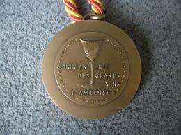 Commanderie Des Grands Vins D'Amboise. (37) Médaille En Bronze Incription Tranche Et Datée 1981 - Professionals / Firms