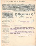 E Mercier Champagne Epernay 51 Marne 1913 - Food