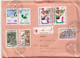 Postal History Cover: Tunisia R Cover From 1968 - Tunisia