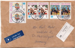Postal History Cover: Turkish Cyprus R Cover With IYC Sets - Covers & Documents