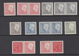 Sweden 1957 - Gustav VI Adolf, Type II, Michel 424-428 MNH ** - Nuevos