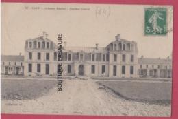 14 - CAEN--Lot De 2 Cpa--Le Nouvel Hipital--Pavillon Central---Souvenir Des Fetes Inauguration Du Nouvel Hopital 1910 - Caen