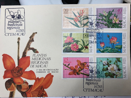 MACAU 1983 REGIONAL MEDICINAL PLANTS FDC - Macao