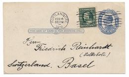 Ganzsache Portland 1912 Nach Basel - Ganzsachen