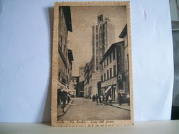 Viaggiata - Imola - Via Emilia - Casa Del Fascio - Animata - Giovani Balilla - Cartolina Storica E Antica - Originale - Imola