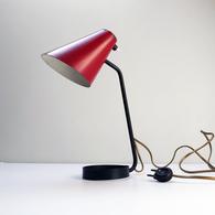 Ancienne Lampe Forme Libre Moderniste Constructiviste JACQUES BINY French Modernist Table Lamp Alte Tischlampe 1950 - Lamps