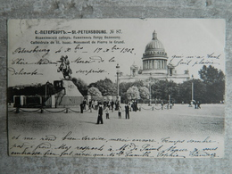 RUSSIE SAINT PETERSBOURG CATHEDRALE DE ST ISAAC MONUMENT DE PIERRE LE GRAND - Russie